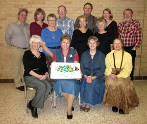 Graduates.  Seated - Kay, Adrienne, Carmen, Grace.  Standing - Greg, Sherry, Mary, Bill, Pam, John, Ruth, Susann, and Gary.