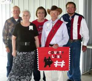Some of the County Line Dancers and Caller Abe Maier.