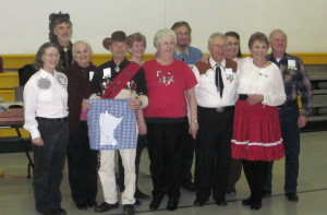 County Line Dancers with Caller Abe Maier.