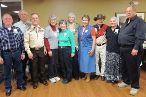 County Line Square Dancers with Spares & Pairs Queen Dixie, Caller Dan Bebernes, and Cuer Doug Kyte!