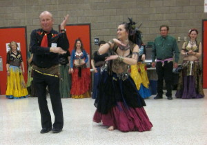 Belly dancer and First Vice President Bob!