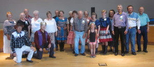 Dancers with Caller Abe Maier.