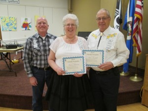 Mavis Johnson and Don Lundell received their sixth Traveler award.