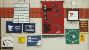 Banners on display