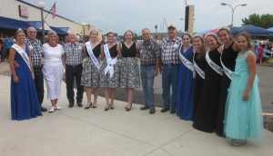 Area royalty and some of the dancers.