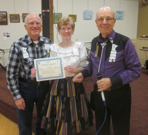 LeRoy and Mary received their 8th Traveler award.