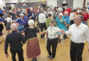 Square dancing at the Annual Turkey Dinner dance.
