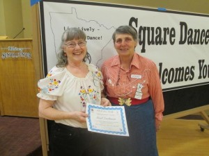 Live Lively Septuagenarian Award – Gael Zachman, County Line Squares and Beaux & Belles.