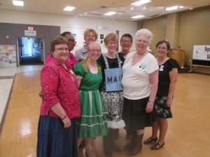 """The all female """"Best Square"""" at the dance."""