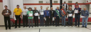 King's Club members present were awarded certificates by Al Martin.
