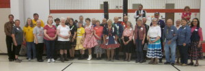 All past and current kings and queens at the dance.
