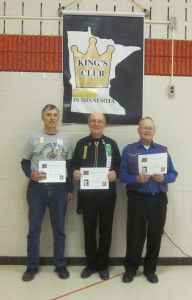 Barry Downs (most active – center), Doug Zachman (second most active), and Jim Egerman (third most active) kings.