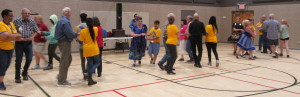 Dancing with the outreach participants.