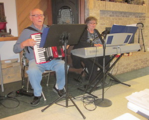 Arlie and Joan provided music for the songs.