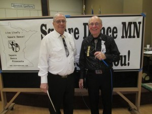 """Don Lundell recieved his """"Live-Lively - Octogenarian"""" Award."""